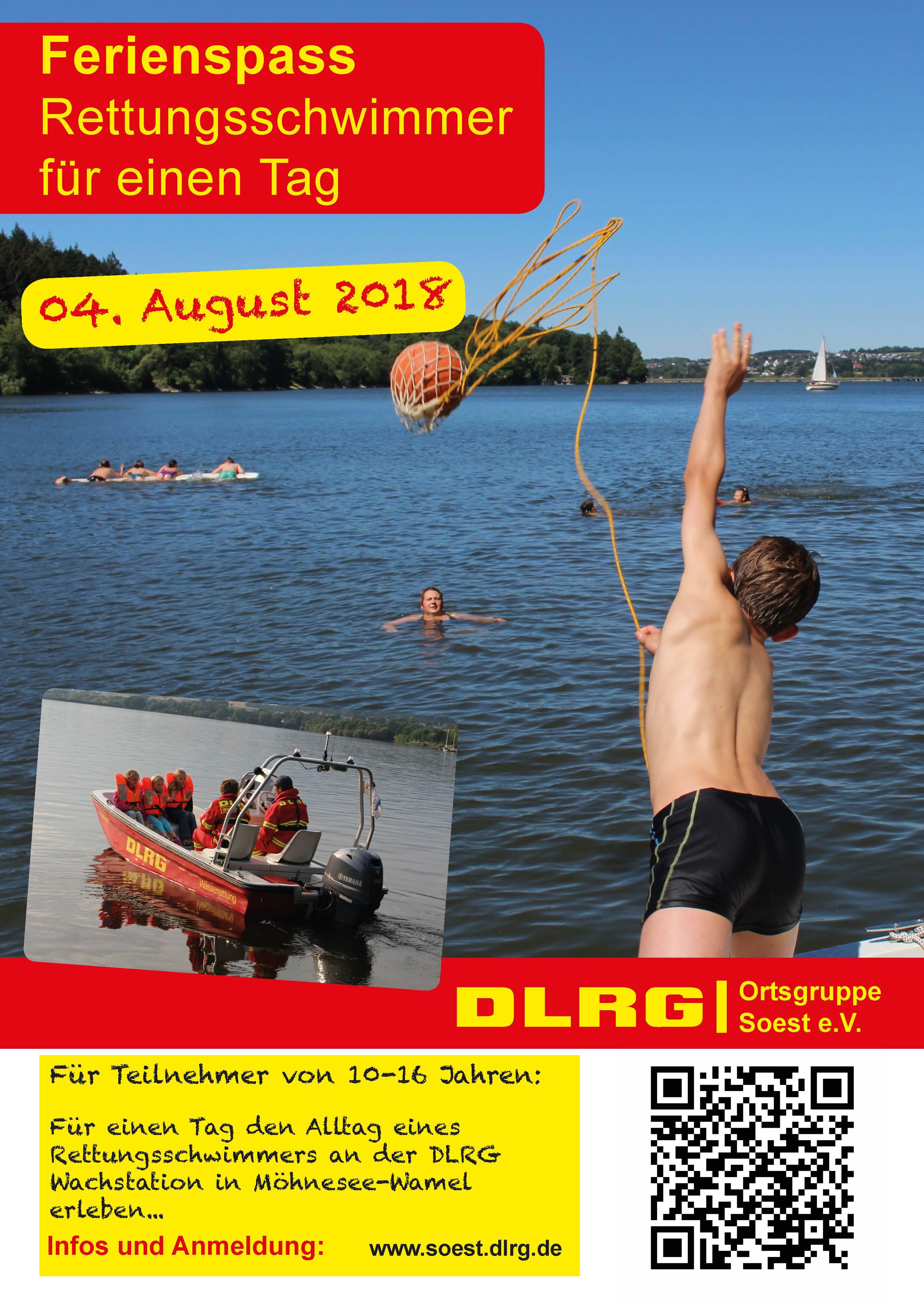 Rettungsschwimmer für einen Tag - DLRG DLRG Ortsgruppe Soest e.V.